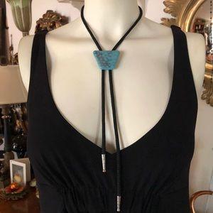 Vintage Turquoise Bolo Necktie Necklace